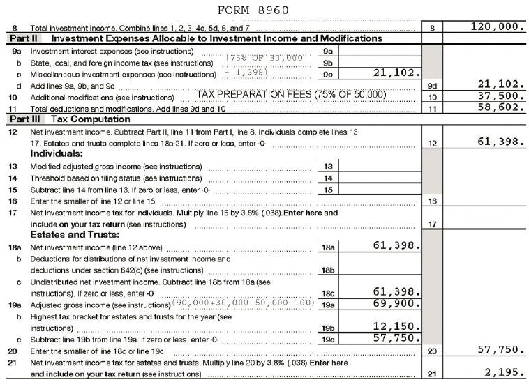 Is An Anomaly In Form 8960 Resulting Unintended Tax On. Sle Form 8960. Worksheet. 2014 Eic Worksheet B Line 4a At Clickcart.co