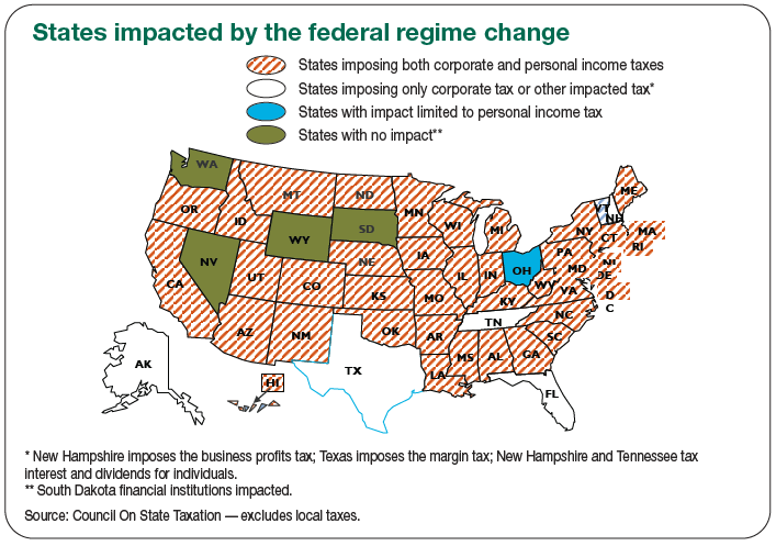 States impacted by the federal regime change